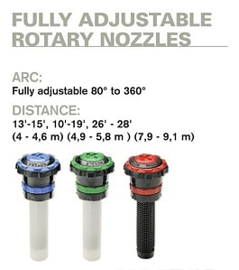 fully hand adjust rotary nozzle