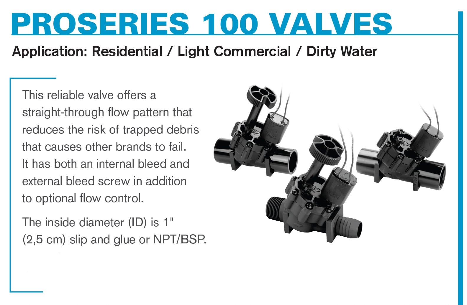 ProSeries 100 Electric Valves