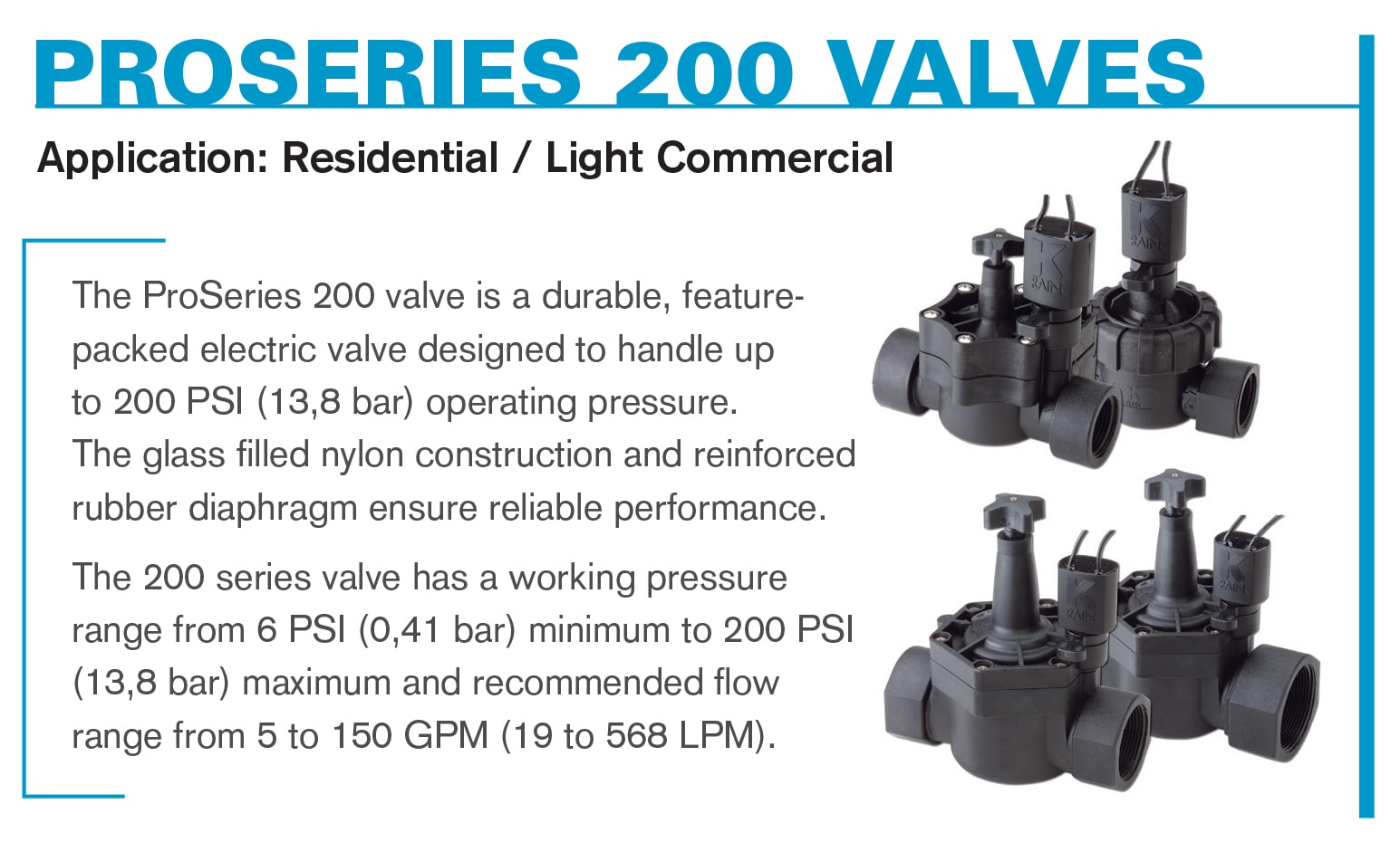 ProSeries 200 Electric Valves
