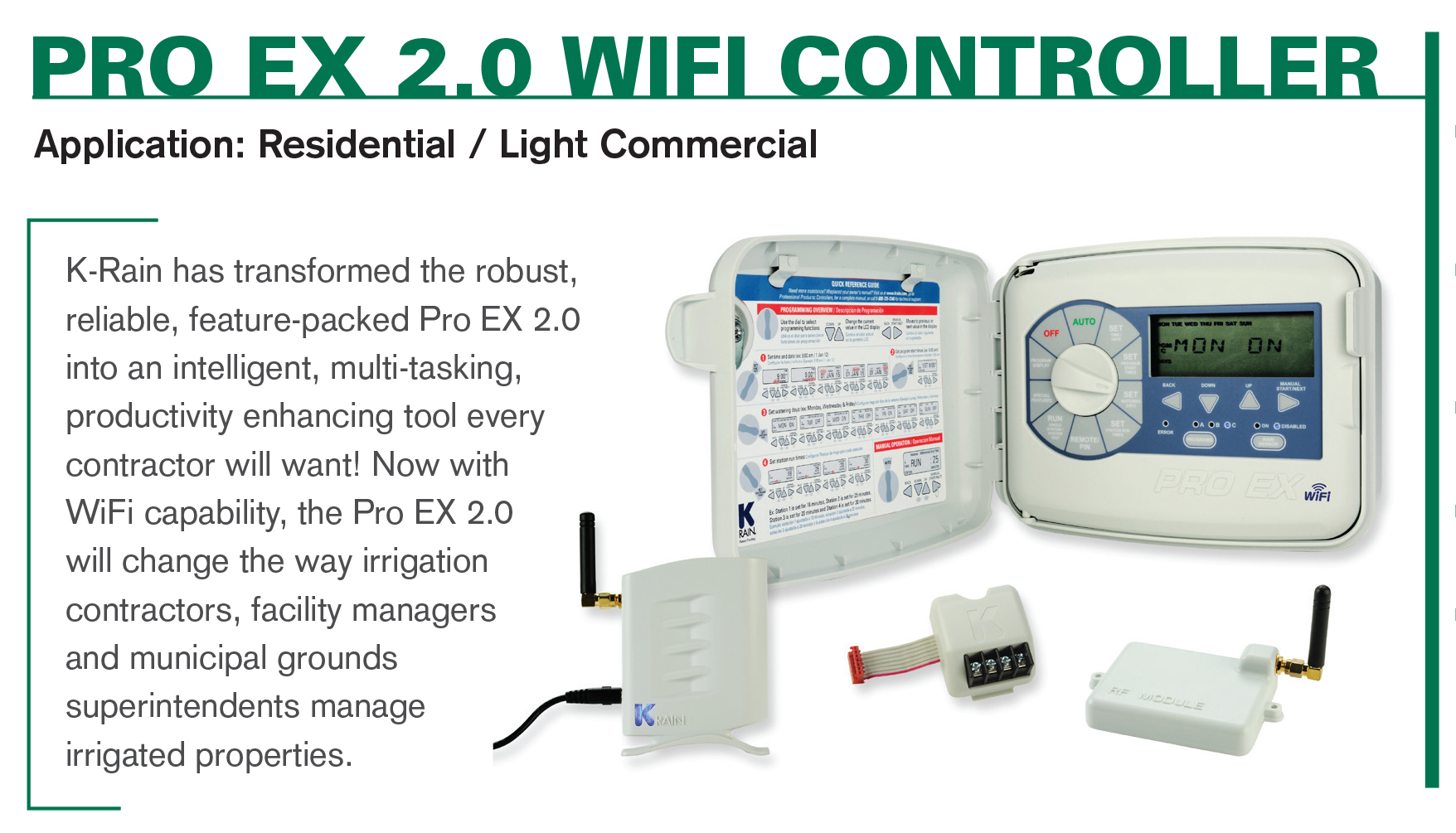 Pro Ex 2.0 WiFi Enabled Irrigation Controller