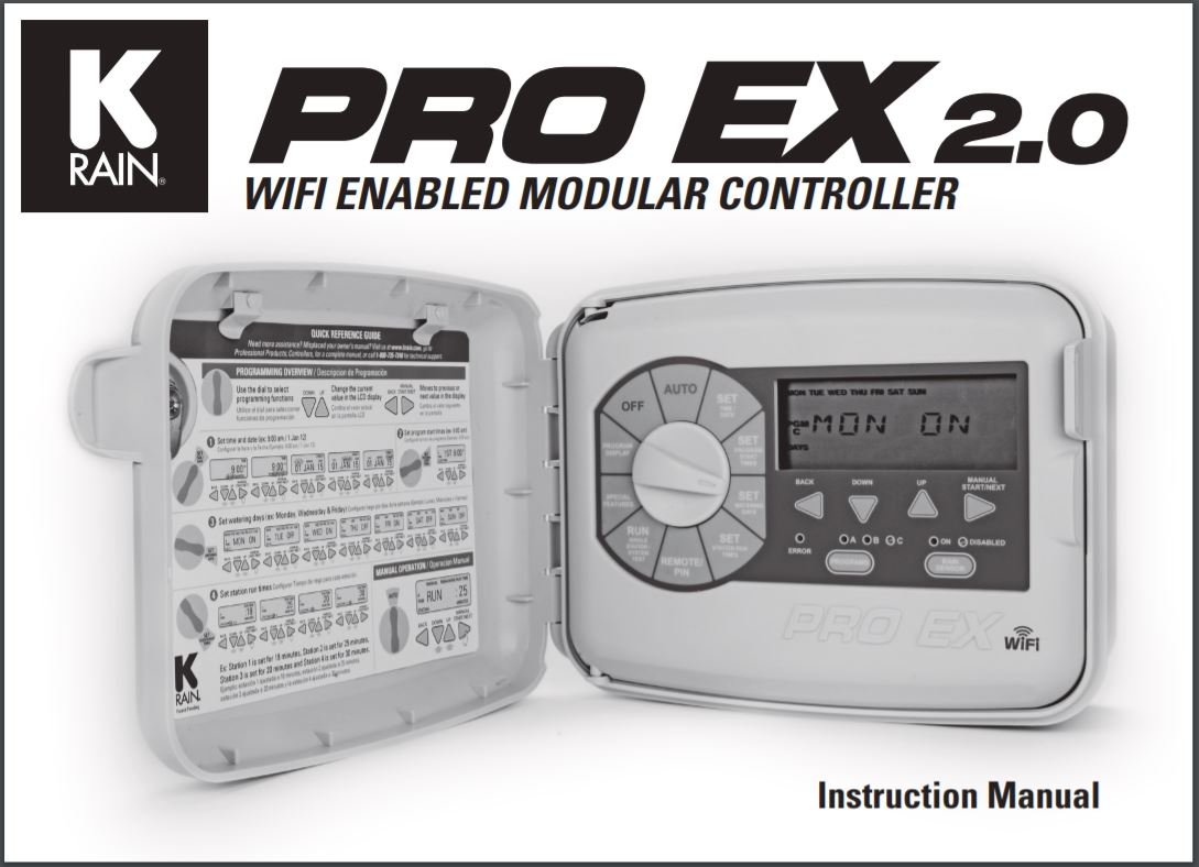 Pro EX WiFi 2.0 Instruction Manual