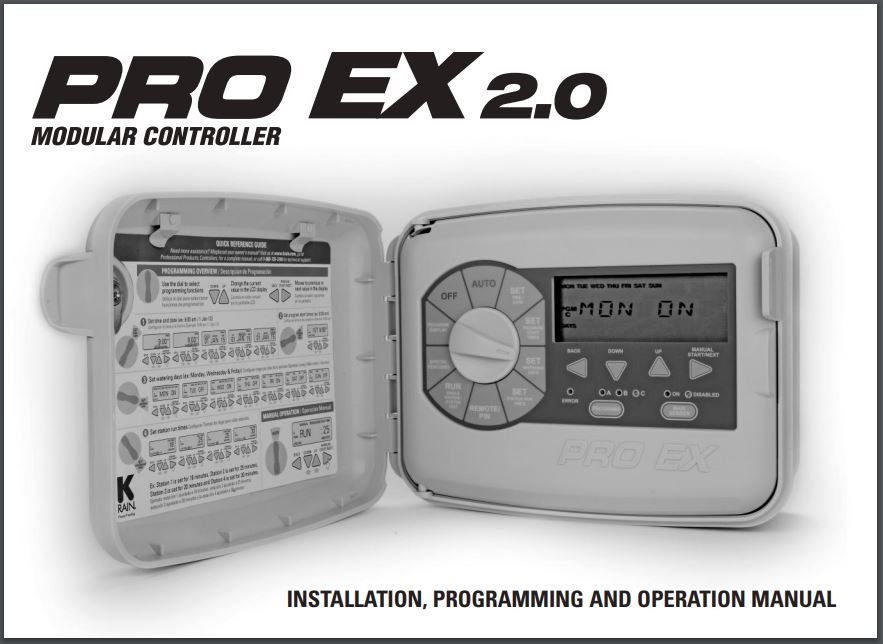 Pro EX 2.0 Instruction Manual