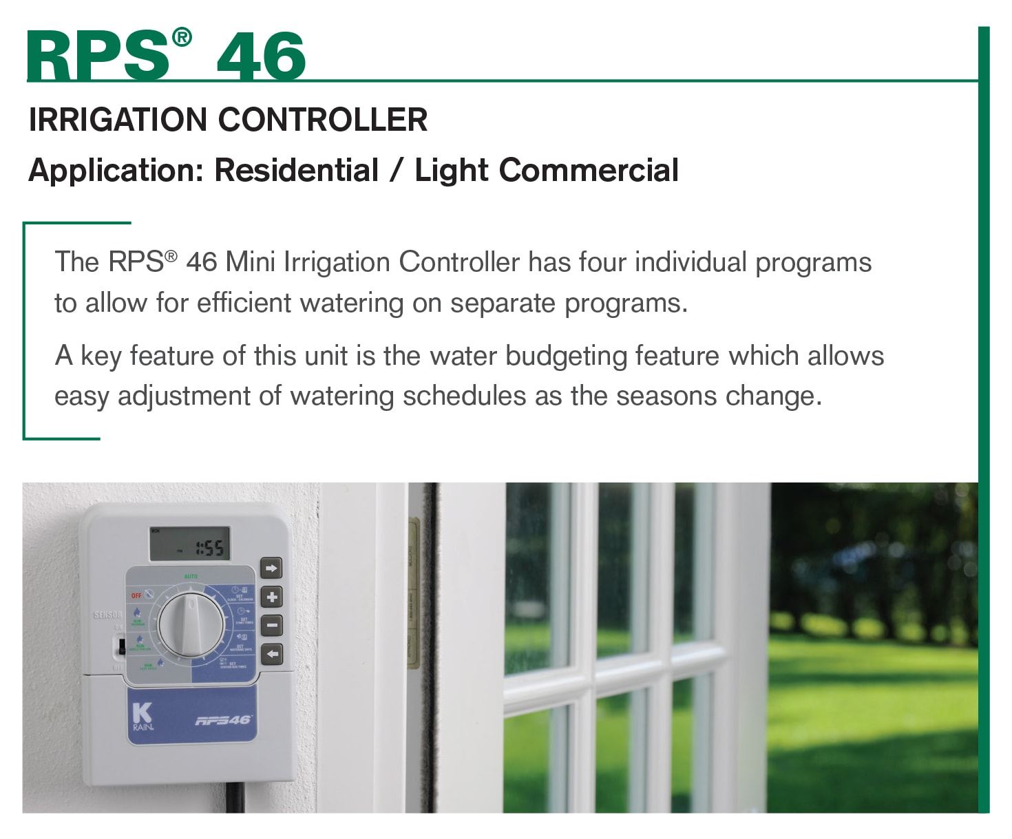 RPS46 Irrigation Controller