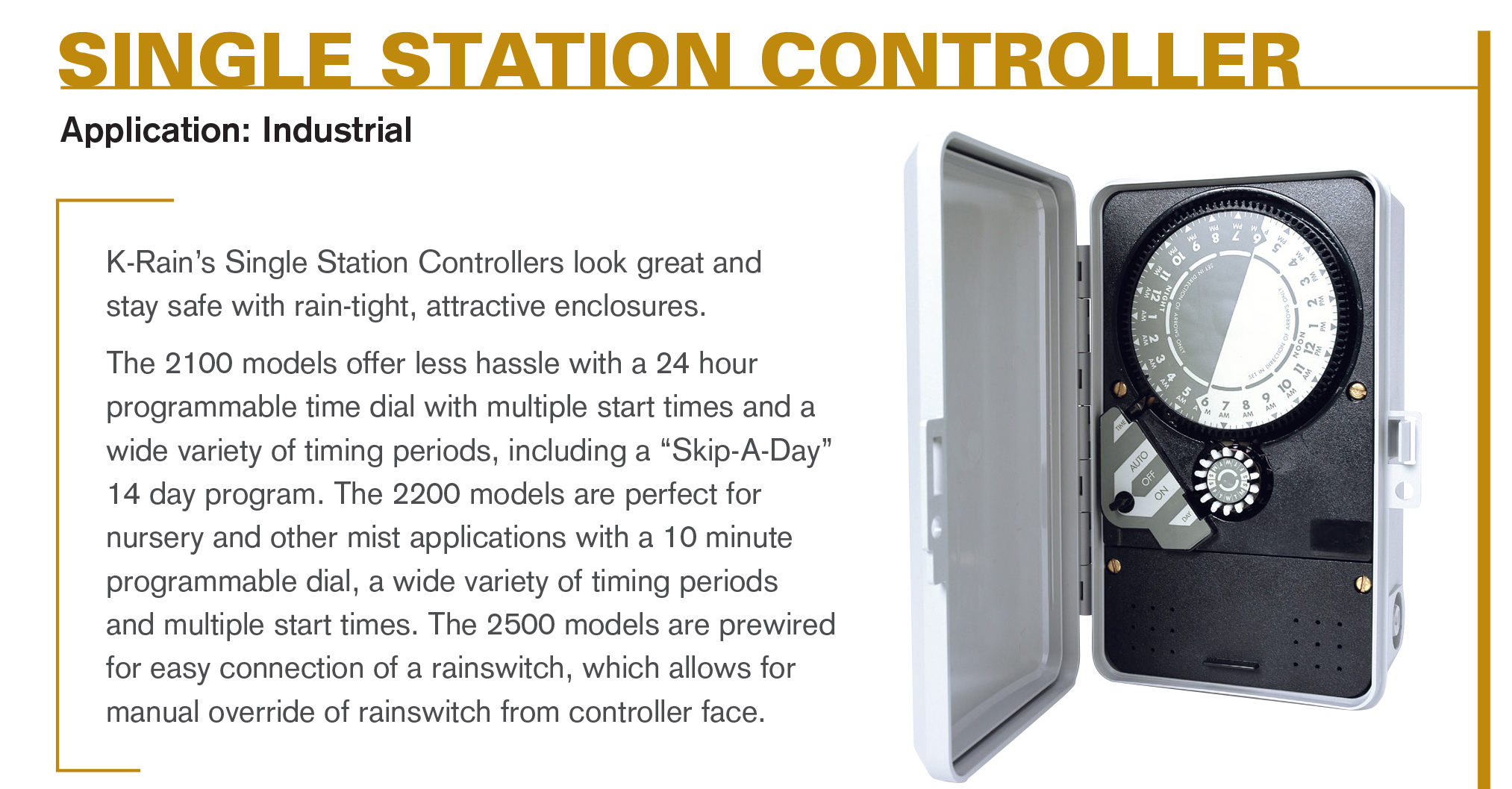 Single Station Irrigation Controllers