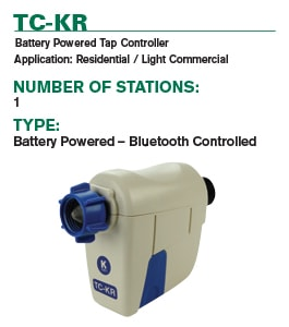 TC-KR Battery Powered Tap Controller