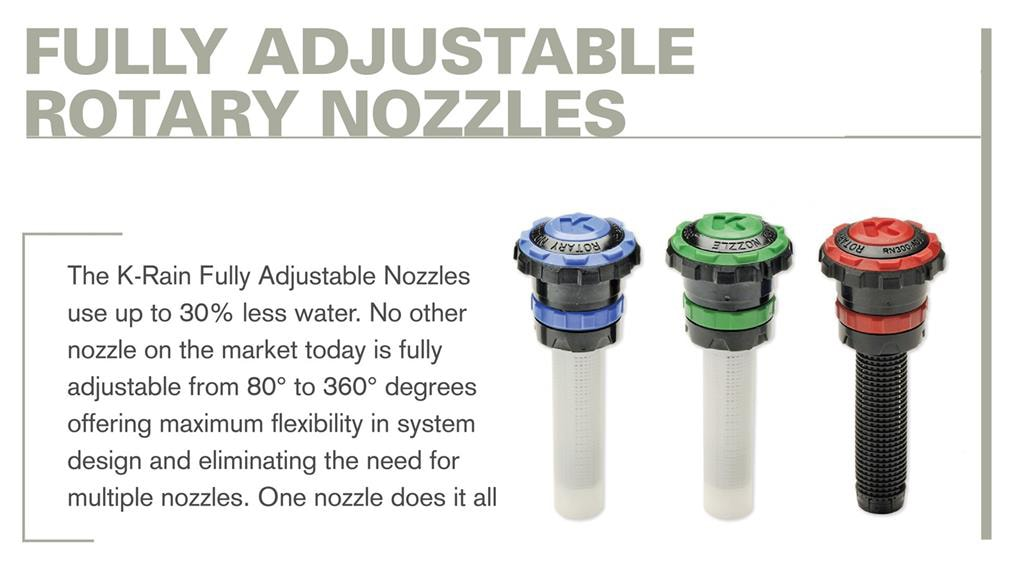 Fully Adjustable Rotary Nozzles
