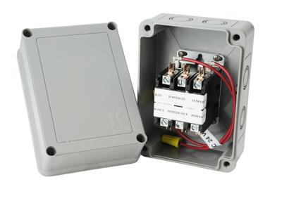Pump Start Relay: 3HP@110 5HP@220 24V Coil   Sprinkler Pump Start Relay Wiring Diagram      K-Rain